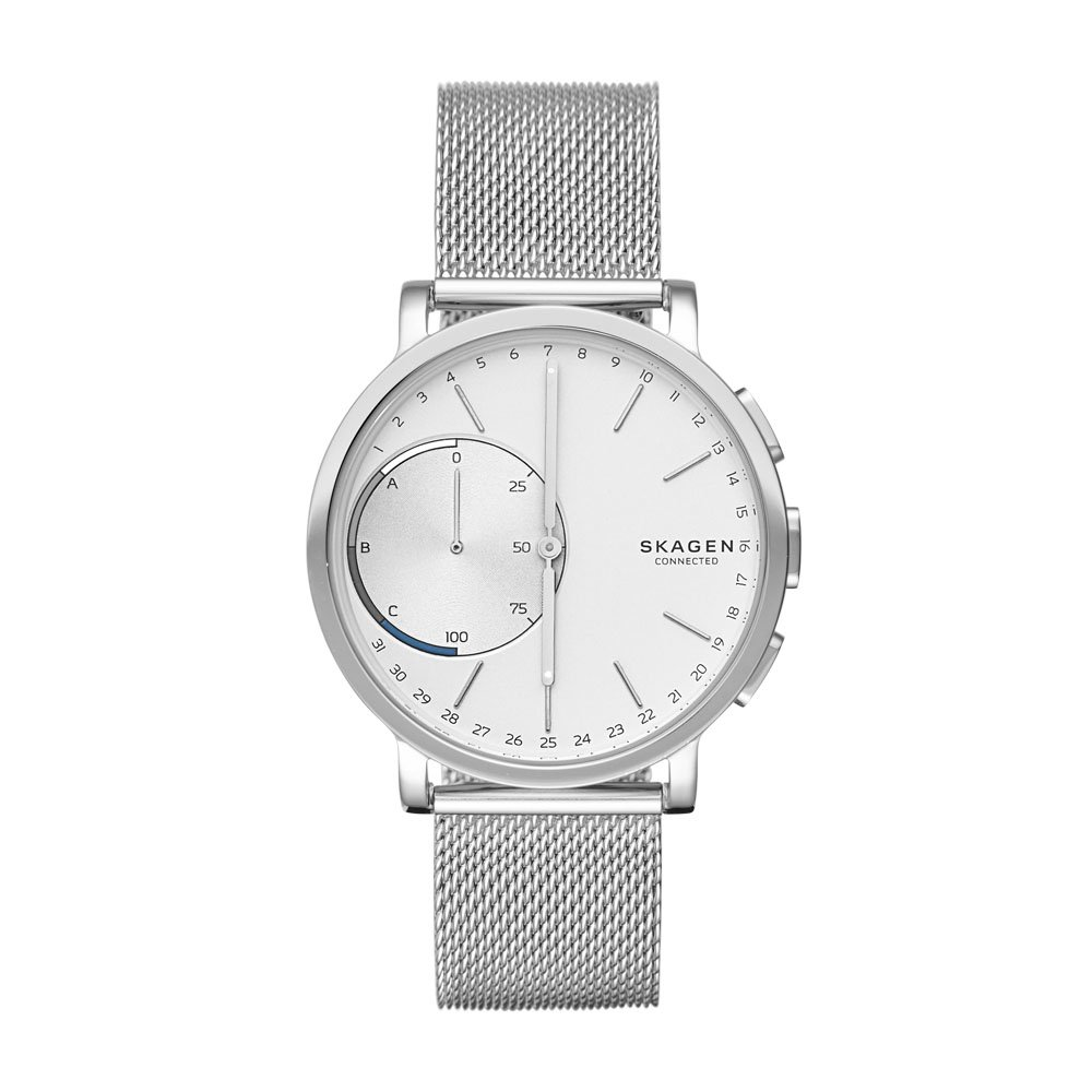 Skagen 'Hagen' Quartz Stainless Steel Smart Watch, Color:Silver-Toned (Model: SKT1100)