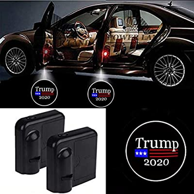 For Donald Trump 2020 Car Door Led Welcome Laser Projector Car Door Courtesy Light Suitable Fit for all brands of cars (Donald Trump 2020): Automotive