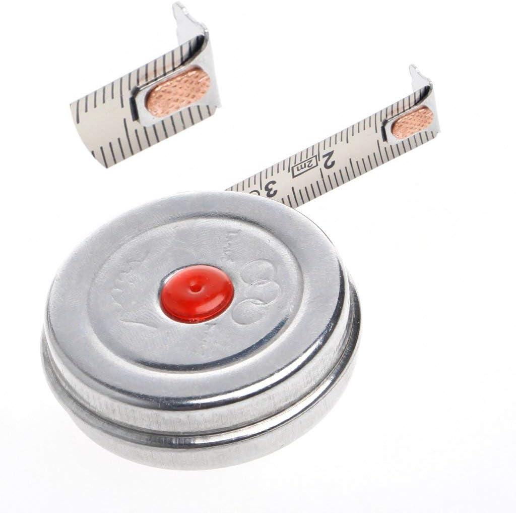 2 m mini m/étrique Ogquaton M/ètre /à ruban r/étractable en acier inoxydable pour le bureau qualit/é sup/érieure m/étrique