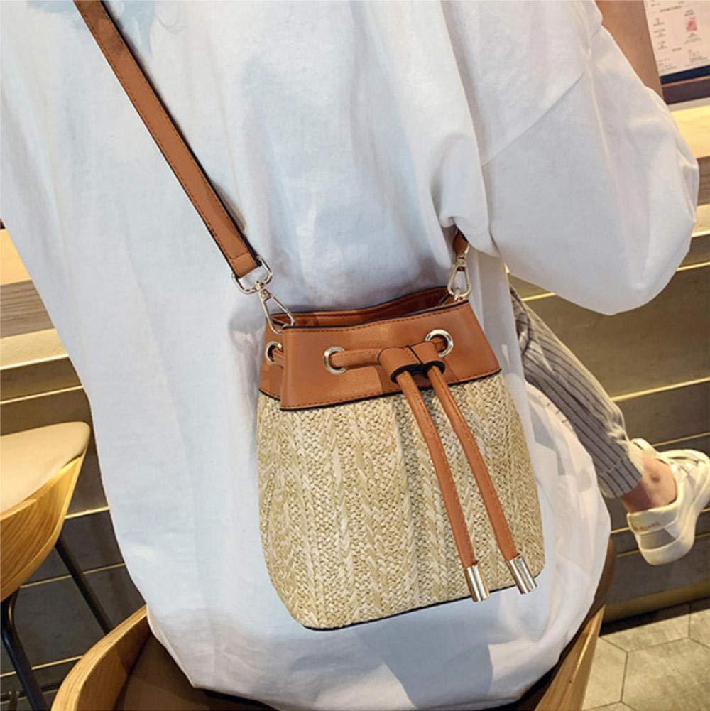 Dwqlx väska kvinnor axelväskor crossbody väskor kvinnor bohemiska sommar strand halmväska dam handväska-1 2