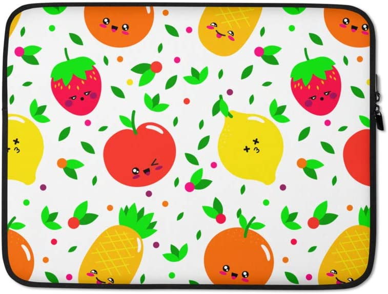 Protective Durable Water Resistant Cute Funny Fruit Laptop Sleeve for Apple MacBook Etc. HP