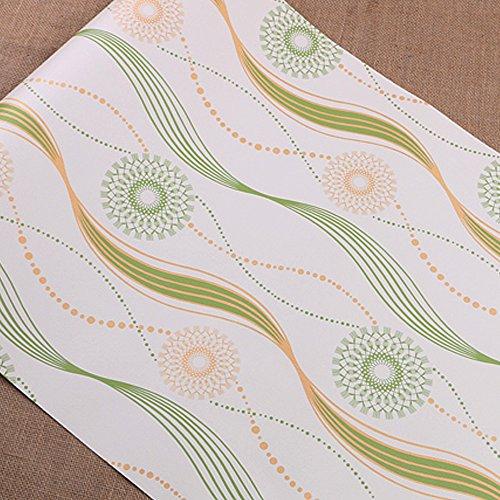 Review SimpleLife4U Green Wave Stripe Self Adhesive Shelf Drawer Liner PVC By SimpleLife4U by SimpleLife4U