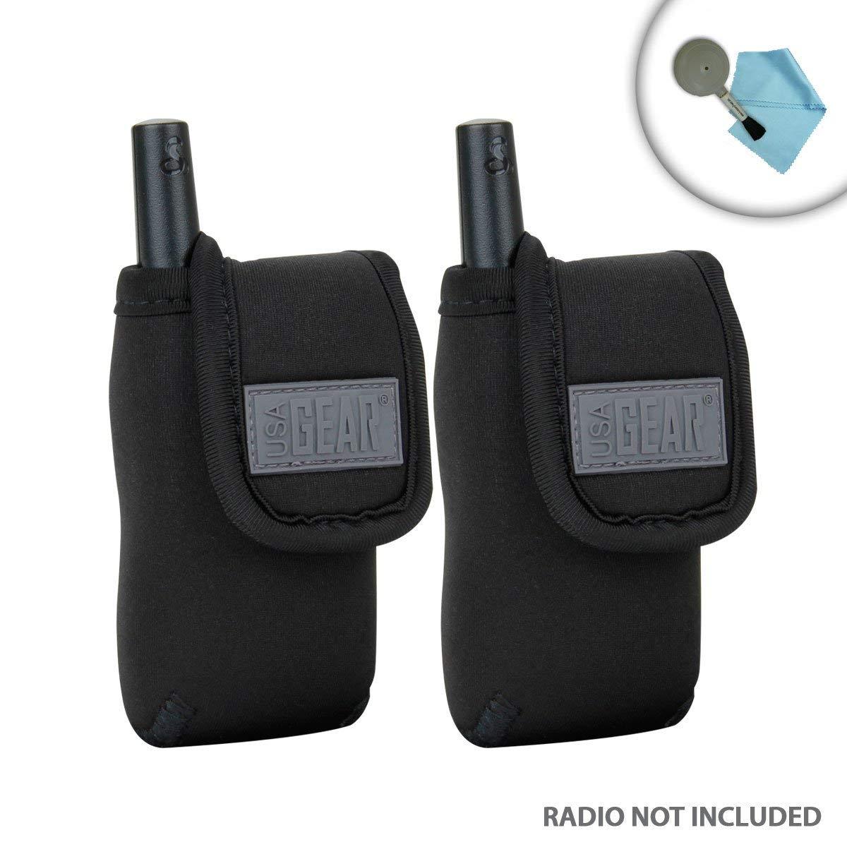 USA GEAR Cobra MicroTalk CXT145 Walkie Talkie Travel Case for Radios 2-PK