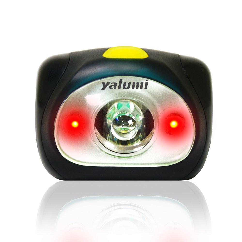 Yalumi Spark Dual LED-Scheinwerfer, 105 Lumen, 90 m, Weiß/Rot