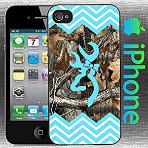 Country Girl Light Blue and Camo Chevron Buck Iphone 6 4.7 Case Hard Plastic Case