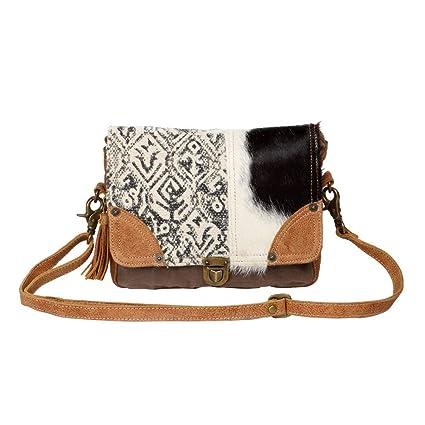 6f41e84de686 Amazon.com: Myra Bag Mixed Upcycled Canvas & Cowhide Leather ...