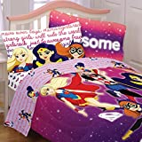 5pc Justice League Girl Full Bedding Set Cosmic Girls Bed