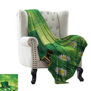 Amazon.com: Manta de franela de San Patricios, diseño ...