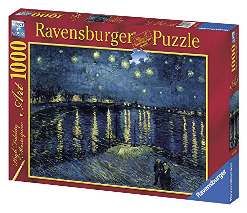 Ravensburger Puzzle 1000 pieces - The Starry Night over the Rhone, Van Gogh (code 15614)