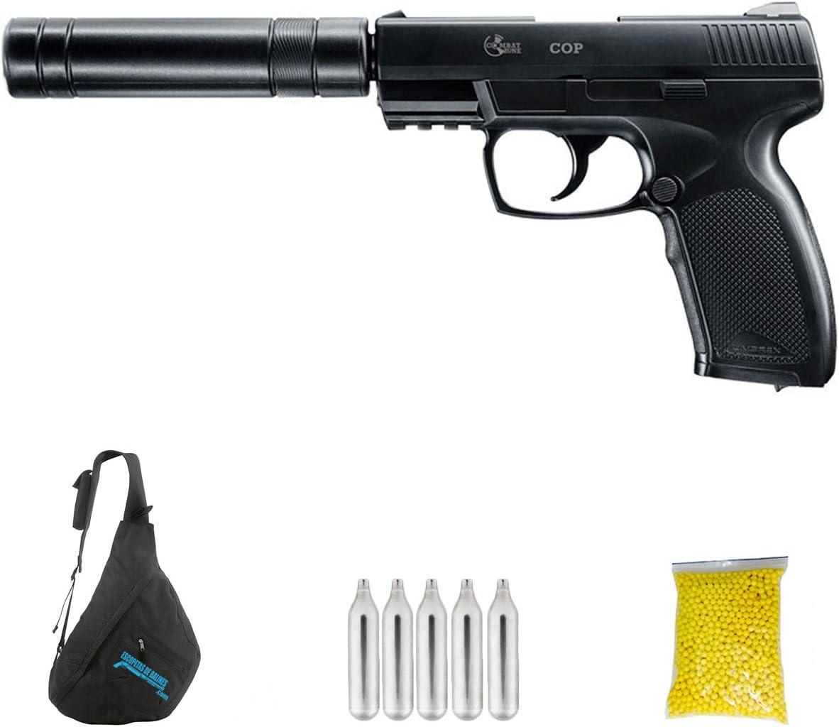 COMBAT COP SK M12 | Pistola de Airsoft Calibre 6mm (Arma Aire Suave de Bolas de plástico o PVC). Sistema: Co2. 2,1 Julios.