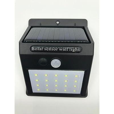 LED Projecteur Solaire Extérieur,Applique Murale avec Détecteur de ...