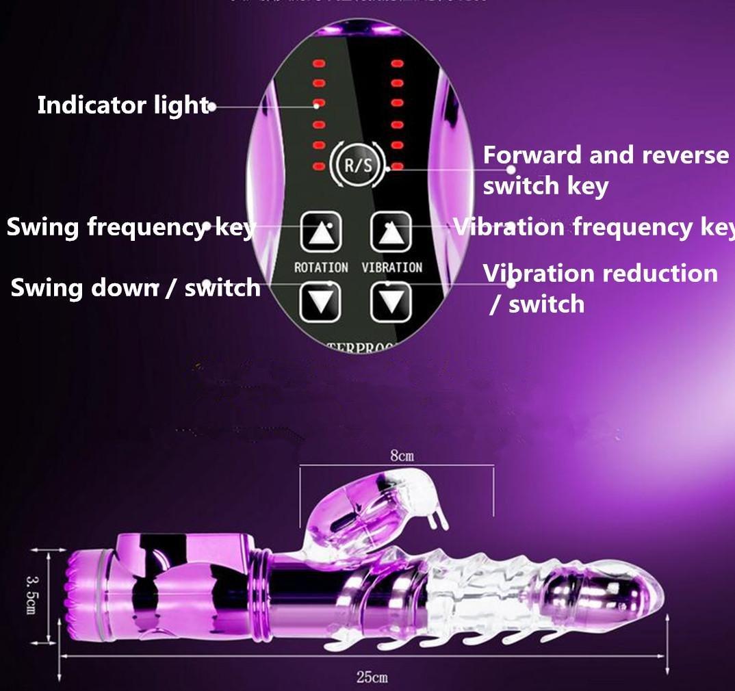 LY-JFSZ Doble Vibradores clásicos en vibrador Juguetes eróticos vibrador Giratorio vibrador en Gordo masturbación Femenina, Purple 1066b0