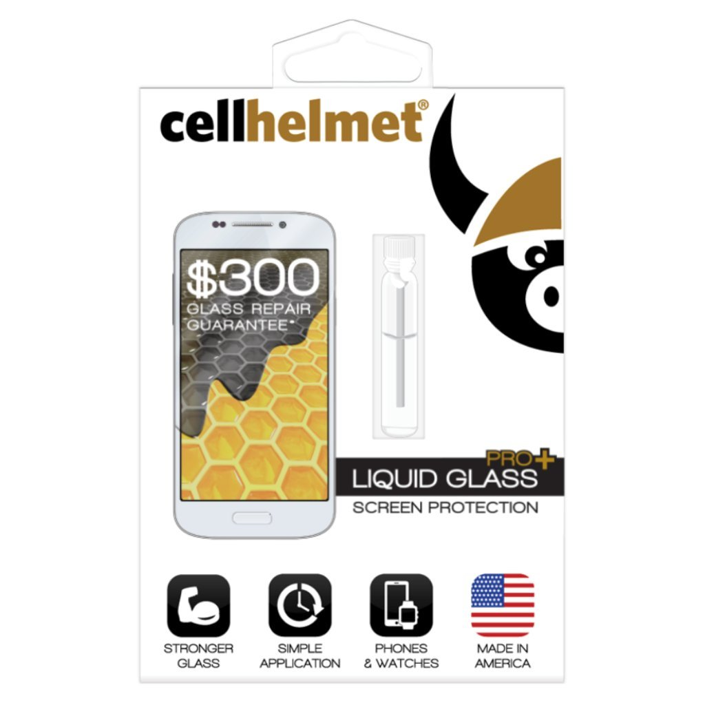 Cellhelmet Liquid Glass+ Screen Protector | $300 Guarantee Glass Repair Warranty | USA MADE | As Seen on Shark Tank | #1 Liquid Screen Protector | All Phones & Watches ... by cellhelmet