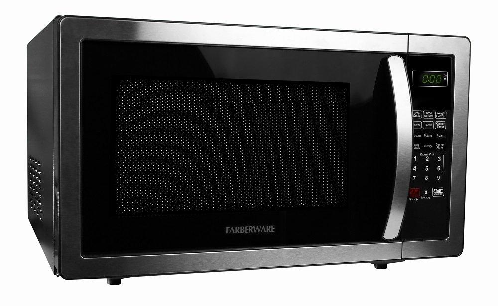 Farberware FMWO11AHTBKB Classic FMO11AHTBKB 1.1 Cubic Foot 1000-Watt Microwave Oven, Stainless Steel by Farberware (Image #3)