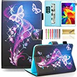 samsung galaxy 4 tablet 7 inch - T230nu Case, Tab 4 7.0 Case, Dteck(TM) Fashion Art Print Slim PU Leather Stand Case with Card Slots Magnetic Closure Protective Cover for Samsung Galaxy Tab 4 7.0