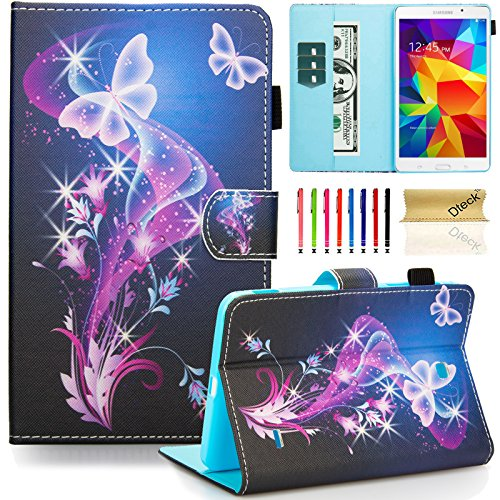 Fashion Design Sd Card (T230nu Case, Tab 4 7.0 Case, Dteck(TM) Fashion Art Print Slim PU Leather Stand Case with Card Slots Magnetic Closure Protective Cover for Samsung Galaxy Tab 4 7.0