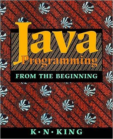 Java Programming: From the Beginning: K  N  King: 9780393974379