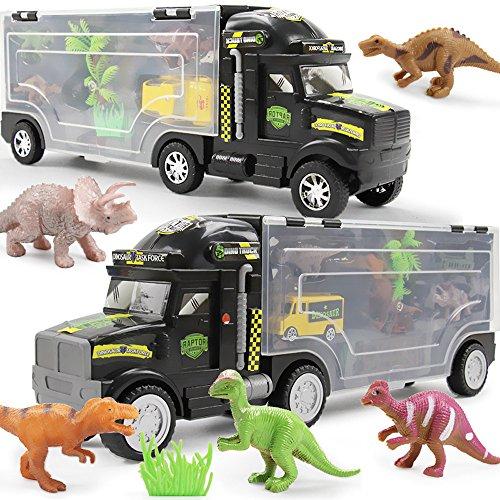 Euone  Car Dolls, Children Educational Toy Truck Toy Car Dinosaur Model Set Portable Storage Box from Euone