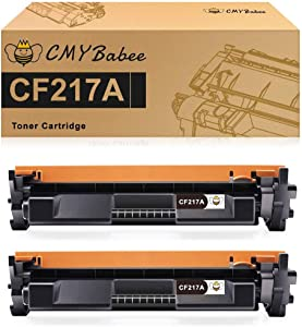 CMYBabee Compatible Toner Cartridge Replacement for HP 17A CF217A High Yield for Laserjet Pro M102w M102a MFP M130fw M130nw M130fn M130a Printer (Black, 2 Pack)