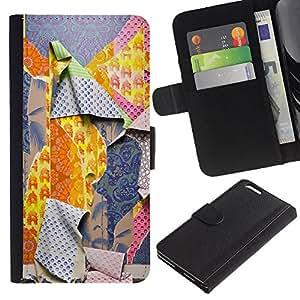 KLONGSHOP // Tirón de la caja Cartera de cuero con ranuras para tarjetas - Patrones Ripped Moda Profunda - Apple Iphone 6 PLUS 5.5 //