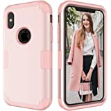 iPhone X Case,iPhone 10 Case,CASY MALL 3-Layer Heavy Duty Hybrid Full-Body Protect Case for Apple iPhone X 5.8 Inch 2017 Release Rose Gold