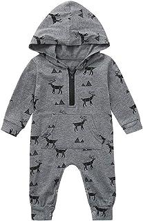 Jimmackey Neonatao Camuffamento con Cappuccio Tutine Body Cerniera Pagliaccetto Vestiti, da 0 A 24 Mesi Bambino