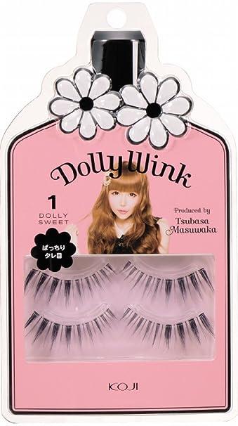 d638fccc688 Amazon.com : Dolly Wink Koji Eyelashes by Tsubasa Masuwaka, Dolly Sweet  (01) : Fake Eyelashes And Adhesives : Beauty
