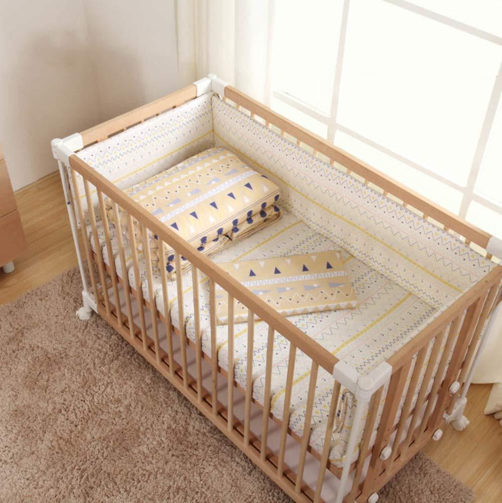 赤ちゃん ベッドガード セット 綿 子 寝具 洗える パッド ベッドレール 反衝突-B  B B07HCDWV3K
