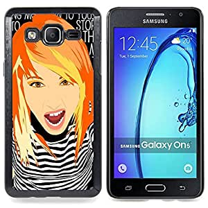 Girl Clever Redhead Ginger Grunge Chick Caja protectora de pl??stico duro Dise?¡Àado King Case For Samsung Galaxy On5 SM-G550FY G550