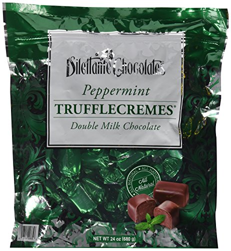 Peppermint Double Milk Chocolate Truffle Cremes - Dilettante - Truffles Mint Dark Chocolate