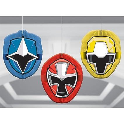 Amazon.com: amscan Power Rangers Ninja Steel Honeycomb ...