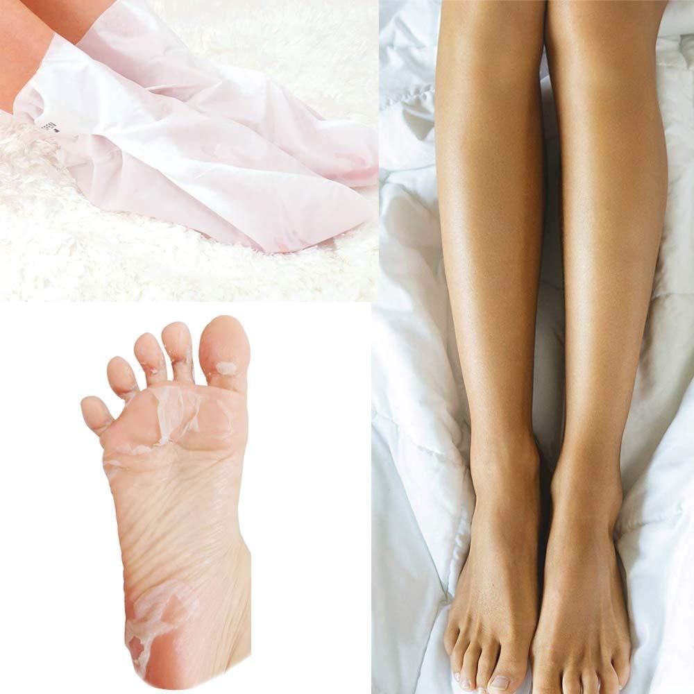 Exfoliating Foot Peeling Mask Booties-2 Pairs Lavender Scented Peel Booties for Callus Dead Skin, Exfoliating Foot Peeling Mask Removes Dead Skin, Repair Rough Heels for Men Women