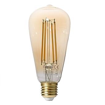 Bombilla LED E27 Extrastar Edison con filamento, de 4 W, equivalente a 40 W, 400 lm, ...