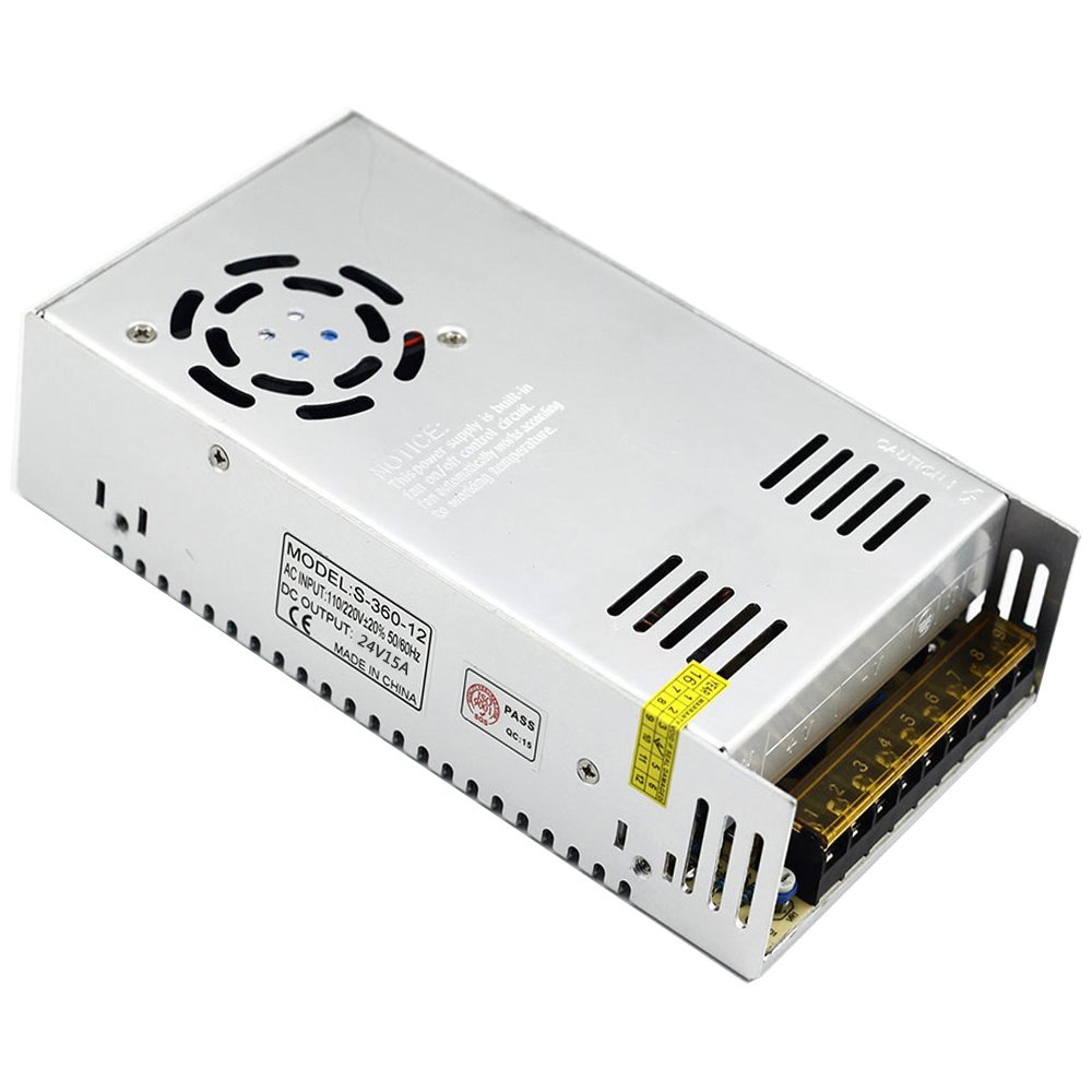 EAGWELL 24v 15a DC Universal Regulated Switching Power Supply 360w for CCTV,Radio,Computer Project, 3D Printer,LED Driver by EAGWELL (Image #3)
