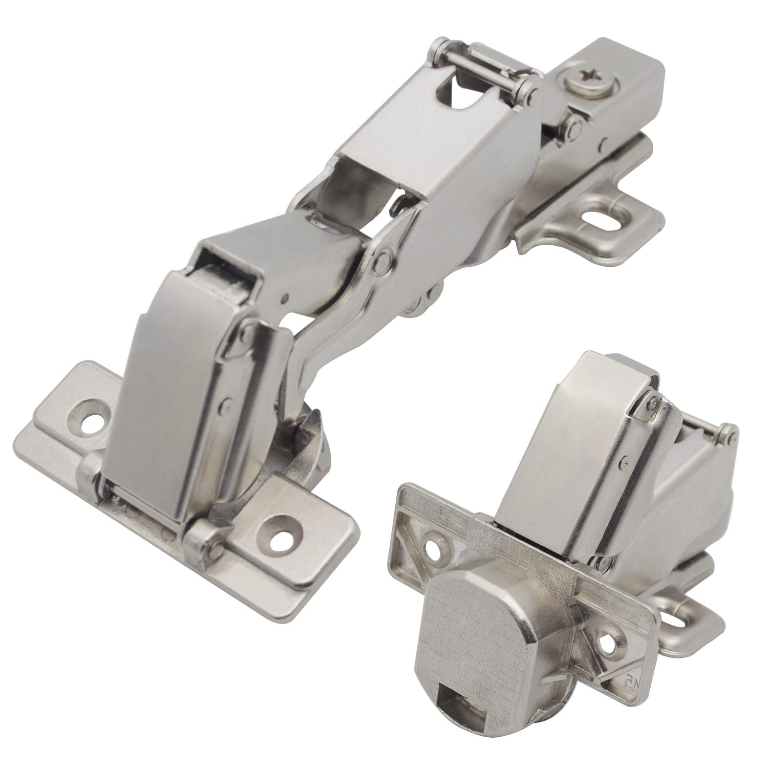 Nickel Plated Full Overlay Sh Abc 165 Degree Concealed Hinges For Corner Kitchen Cabinet Door Face Frame Cabinet Hinges Hinges