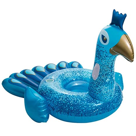 KFRSQ Piscina Inflable Flotante Fila Inflable Pavo Real ...