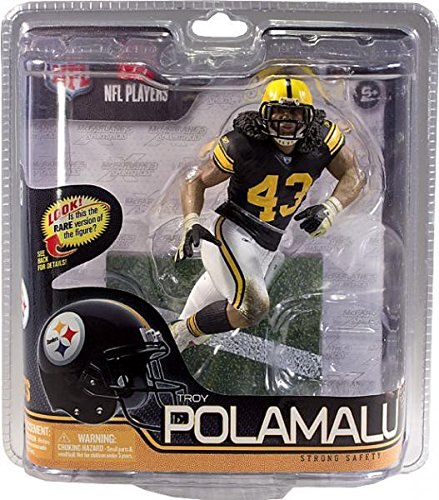 (McFarlane Sportspicks: NFL Series 29 6 inch Troy Polamalu - Pittsburgh Steelers Chase Variant Retro Uniform Action Figur by McFarlane Toys)