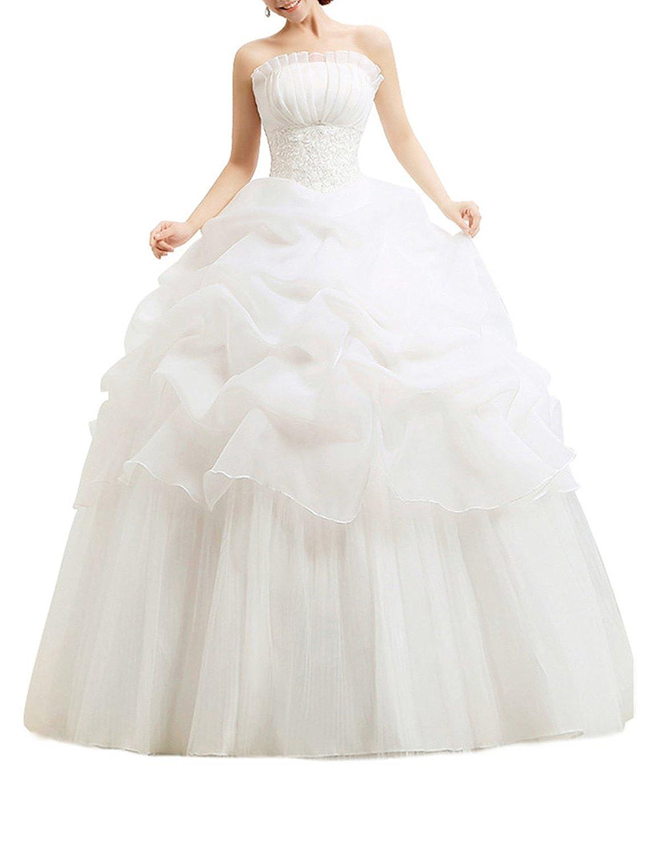 LATH.PIN® Damen Chiffon Abschlussball Prinzessin Hochzeitskleider ...