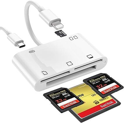Lector de tarjetas de memoria todo en 1, adaptador para lector de ...