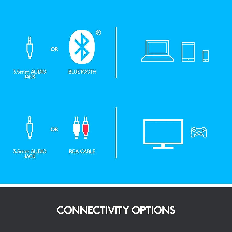Bluetooth, RCA, potenza di picco di 160 W, telecomando, compatibile con computer, PC, TV, telefoni e tablet Altoparlante audio surround Logitech Z607 5.1