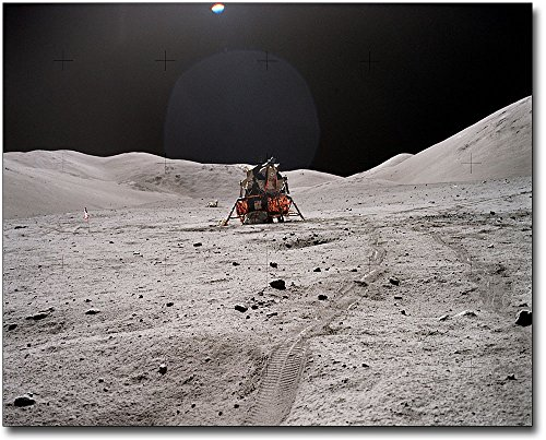 Apollo 17 Lunar Module & Rover Tracks Moon 11x14 Silver Halide Photo Print