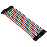Aukru 40pcs 20cm Female to Female Breadboard Dupont Jumper Wires Ribbon Cables for Arduino Raspberry pi