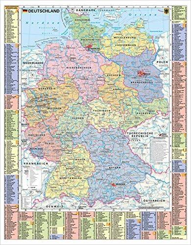stiefel deutschlandkarte Stiefel EUROCART Deutschlandkarte Deutschland politisch und
