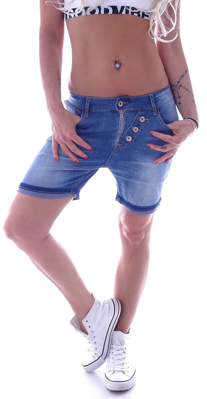 Damen Caprihose Kurzehose Hose