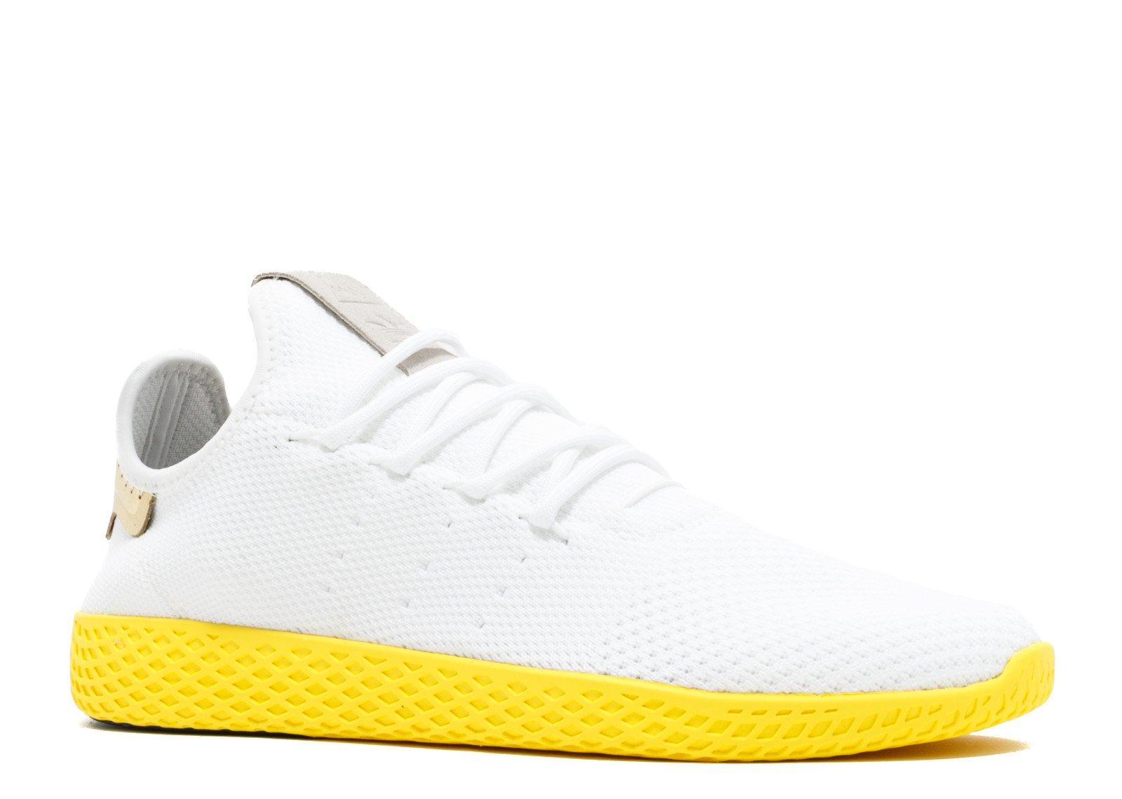 adidas PW Tennins HU Men's Shoes White/Yellow by2674 (4 D(M) US)