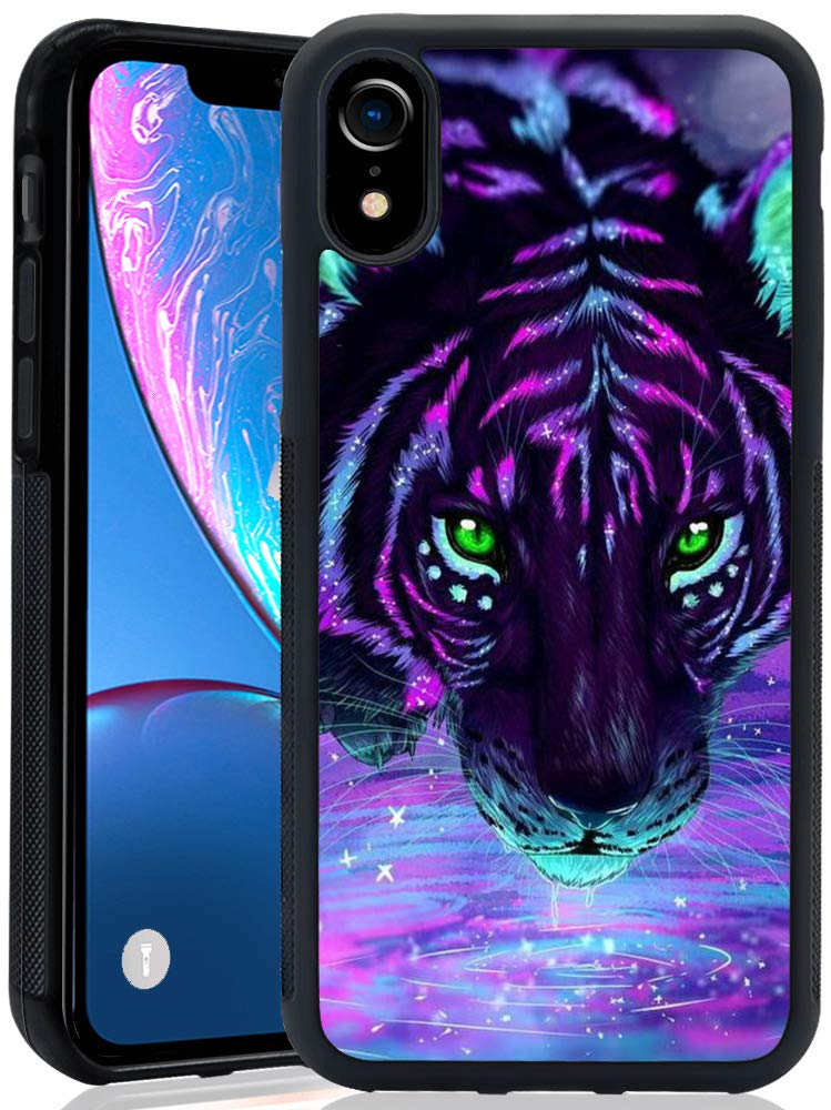 Amazon.com  Tiger iPhone XR ChyFS Phone Case Black Protective Case for  iPhone XR (2018 Release)  Cell Phones   Accessories 6bcaad86e