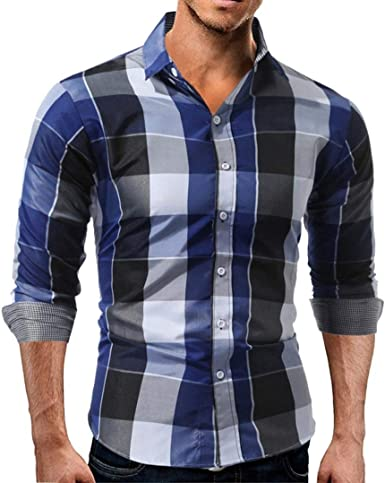 Hombre Camisas Camisa s Los Cuadros Chic A De Friends para Camisa De Manga Larga A