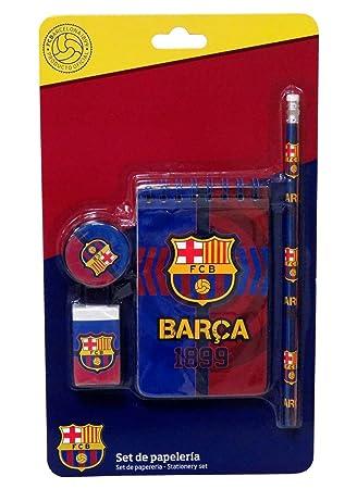 C Y P Set DE PAPELERÍA 4 PCS FC Barcelona GS-505-BC: Amazon ...