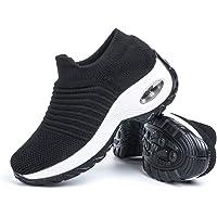 Zapatillas Deportivas de Mujer Zapatos Running Fitness Gym Outdoor Sneaker Casual Mesh Transpirable Comodas Rojas…