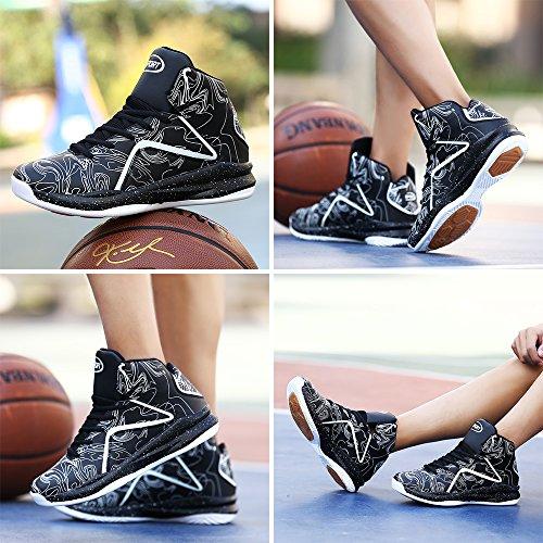 Chaussures Sneakers High Entraînement Lanseyaoji Antidérapantes Athlétique Baskets Up Sport Légères De ball Lace Gymnase Basket Mode Homme top Noir Course rPY0wqTPv